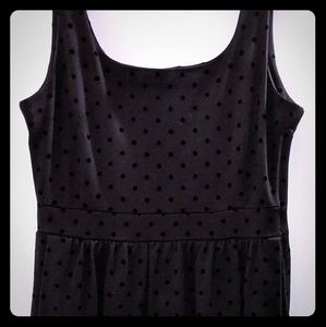 Madewell polka dot little black dress